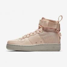 Nike SF Air Force 1 Mid Lifestyle Shoes Womens Orange Quartz/Pale Grey AA3966-800