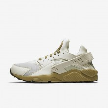 Nike Air Huarache Lifestyle Shoes For Men Light Bone/Neutral Olive/Black 318429-050