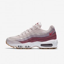 Nike Air Max 95 Lifestyle Shoes For Women Barely Rose/Vintage Wine/White/Hot Punch 307960-603