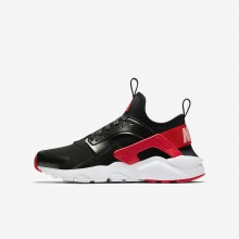 Zapatillas Casual Nike Air Huarache Run Ultra QS Niña Negras/Coral/Rojas AO1030-001
