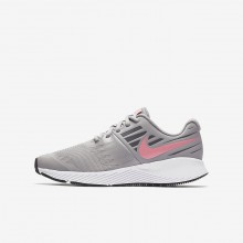 Nike Star Runner Running Shoes Girls Atmosphere Grey/White/Gunsmoke/Sunset Pulse 907257-002