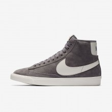 Nike Blazer Mid Vintage Lifestyle Shoes Womens Gunsmoke/Sail/Black 917862-004