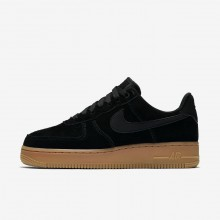 Nike Air Force 1 07 SE Lifestyle Shoes Womens Black/Gum Medium Brown/Ivory AA0287-002