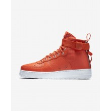 Nike SF Air Force 1 Mid Lifestyle Shoes Mens Team Orange/Black 917753-800