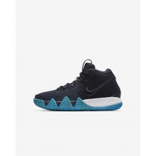 Nike Kyrie 4 Basketball Shoes For Boys Dark Obsidian/Black AA2897-401