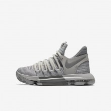 Nike Zoom KDX Basketball Shoes Boys Wolf Grey/Cool Grey 918365-007