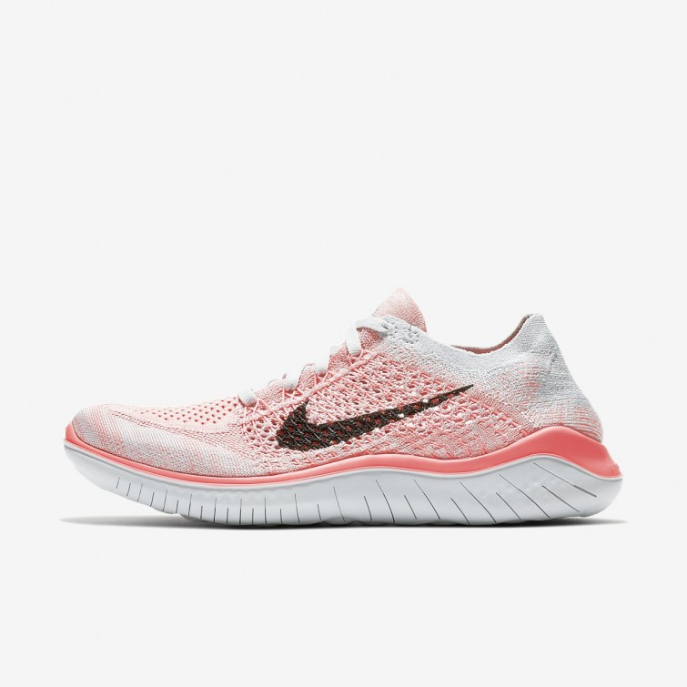 c1ae6f68231 Nike Free RN Flyknit 2018 Running Shoes Womens Crimson Pulse Pure  Platinum Palest Purple