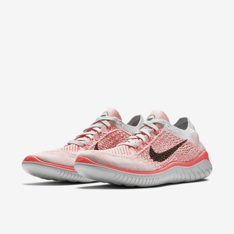 the best attitude 370e0 7f21d ... Chaussure Running Nike Free RN Flyknit 2018 Femme Platine/Violette/Noir  942839-800
