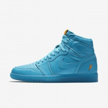 Nike Air Jordan 1 Lifestyle Shoes For Men Blue Lagoon AJ5997-455