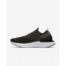 Nike Epic React Flyknit Running Shoes For Women Black/Dark Grey/Wolf Grey/White AQ0070-001
