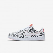 Nike Blazer Low QS Lifestyle Shoes Boys White/Black/Bright Crimson AO1033-100