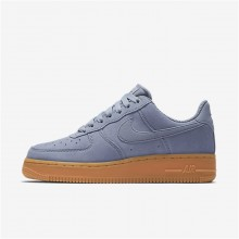 Nike Air Force 1 07 SE Lifestyle Shoes Womens Glacier Grey/Gum Medium Brown/Ivory AA0287-001