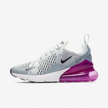 Nike Air Max 270 Lifestyle Shoes Womens Barely Grey/Light Pumice/Fuchsia Blast/Black AH6789-004