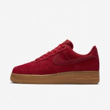 Nike Air Force 1 07 SE Lifestyle Shoes Womens Gym Red/Gum Light Brown/Speed Red 896184-601