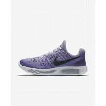 Nike LunarEpic Low Flyknit 2 Running Shoes Womens Wolf Grey/Purple Earth/Dark Raisin/Black 863780-007
