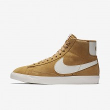 Nike Blazer Mid Vintage Lifestyle Shoes Womens Elemental Gold/Sail/Black 917862-700