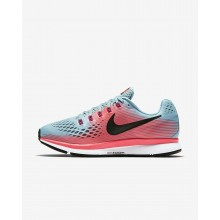 Nike Air Zoom Pegasus 34 Running Shoes Womens Racer Pink/Mica Blue/Sport Fuchsia/White 880560-406