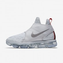 Nike Air VaporMax Chukka Slip Lifestyle Shoes Mens Pure Platinum/White/Team Orange/Reflect Silver AO9326-001