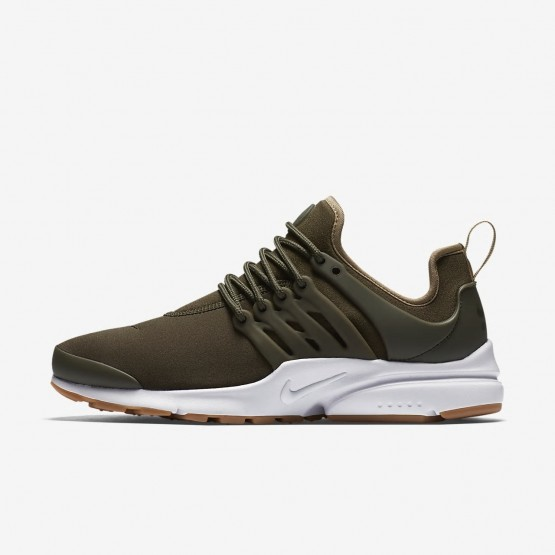 Nike Air Presto Lifestyle Shoes Womens Cargo Khaki/Neutral Olive/Gum Light Brown 878068-304