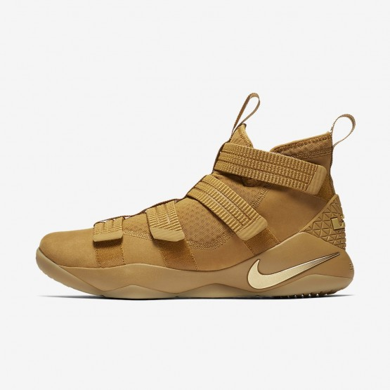 Nike LeBron Soldier XI SFG Basketball Shoes Womens Mineral Gold/Metallic Gold 897646-700