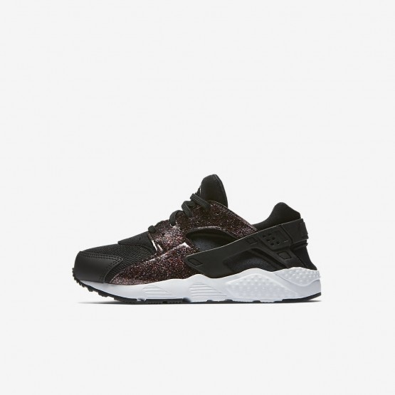 Nike Huarache SE Lifestyle Shoes Girls Black/Pink Prime/White 859591-006