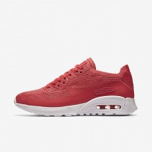 Nike Air Max 90 Ultra 2.0 Flyknit Lifestyle Shoes Womens Geranium/White 881109-600