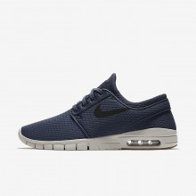 Nike SB Stefan Janoski Max Skateboarding Shoes Mens Thunder Blue/Gum Medium Brown/Light Bone/Black 631303-402