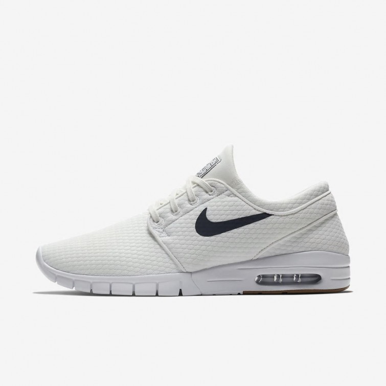 859a243e2b4 Nike SB Stefan Janoski Max Skateboarding Shoes Mens Summit White Gum Medium  Brown White