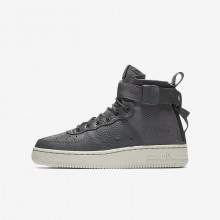 Nike SF Air Force 1 Mid Lifestyle Shoes Boys Dark Grey/Light Bone AJ0424-002