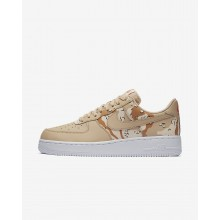 Nike Air Force 1 07 Low Camo Lifestyle Shoes Mens Bio Beige/Orange Quartz/Terra Orange 823511-202