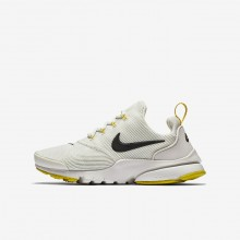 Nike Presto Fly Lifestyle Shoes For Boys Light Bone/Vivid Sulfur/Velvet Brown 913966-007
