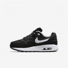 Nike Air Max 1 Lifestyle Shoes Boys Black/White 807602-001