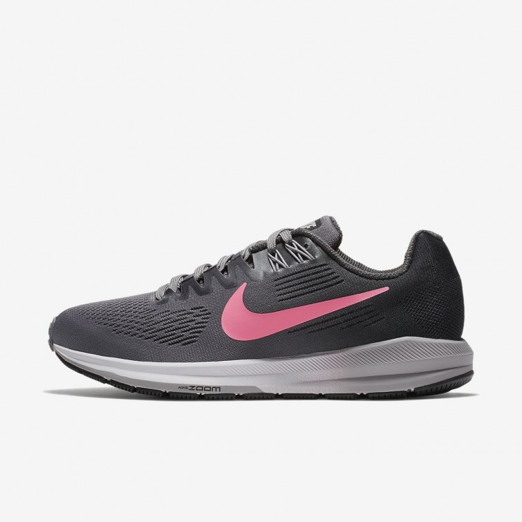 e2ca823c6ac8 Nike Air Zoom Structure 21 Running Shoes Womens Gunsmoke Anthracite Atmosphere  Grey Sunset