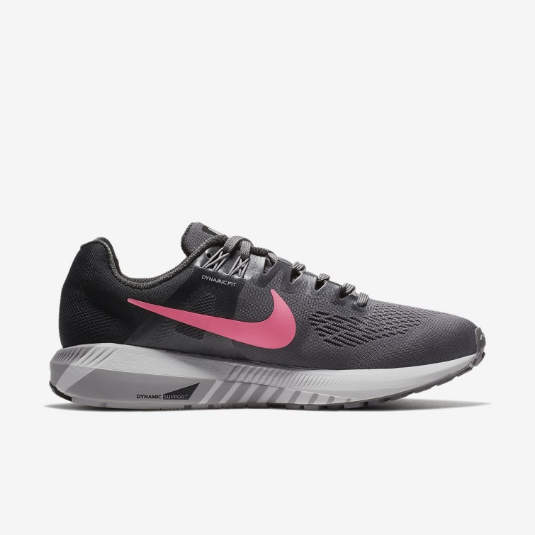 5e36a57bcc4 ... Nike Air Zoom Structure 21 Running Shoes Womens Gunsmoke Anthracite Atmosphere  Grey Sunset ...