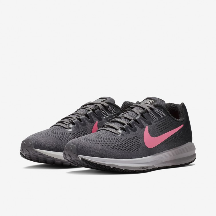 2f94f01ee99 ... Nike Air Zoom Structure 21 Running Shoes Womens Gunsmoke Anthracite Atmosphere  Grey Sunset