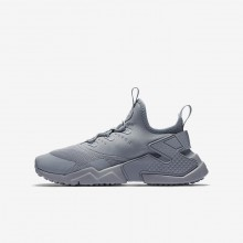 Nike Huarache Run Drift Lifestyle Shoes Boys Wolf Grey/White 943344-003