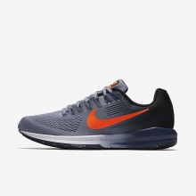 Nike Air Zoom Structure 21 Running Shoes Mens Dark Sky Blue/Black/Navy/Total Crimson 904695-406
