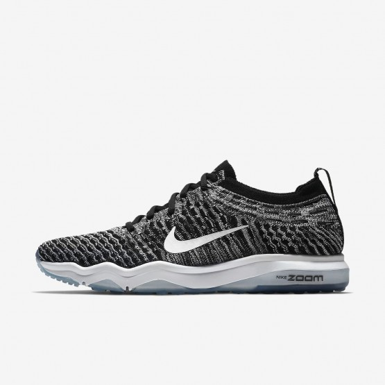 Nike Air Zoom Fearless Flyknit Lux Training Shoes Womens Black/Cool Grey/White 922872-007