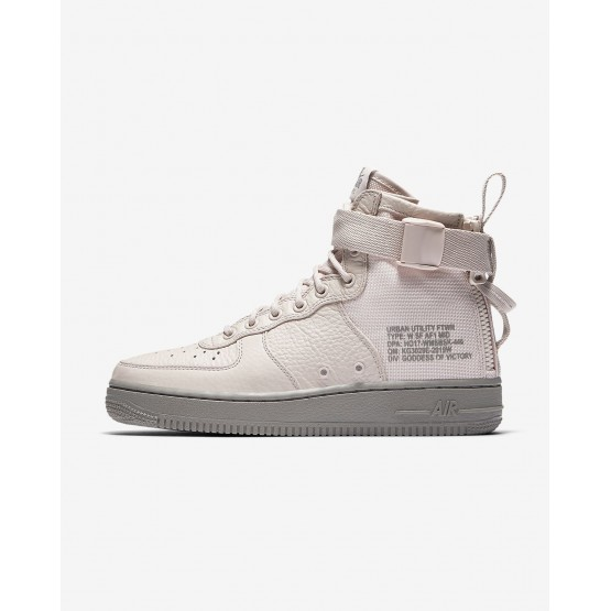 Nike SF Air Force 1 Mid Lifestyle Shoes Womens Siltstone Red/Dust AA3966-600