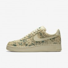 Nike Air Force 1 07 Low Camo Casual Schoenen Heren Goud/Goud Beige/Groen 823511-700
