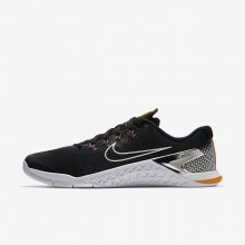 Nike Metcon 4 Training Shoes Mens Black/Laser Orange/Fuchsia Blast/Metallic Silver AH7453-008
