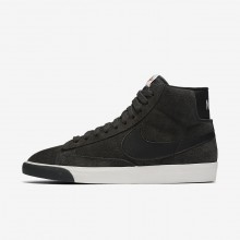 Nike Blazer Mid Lifestyle Shoes For Women Anthracite/Ivory/Gum Medium Brown/Black 917862-003