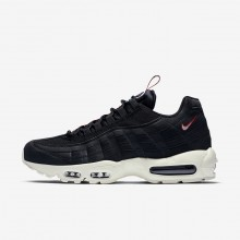 Nike Air Max 95 Lifestyle Shoes For Men Black/Gym Red/Sail AJ1844-002