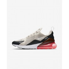 Nike Air Max 270 Lifestyle Shoes Mens Black/Hot Punch/White/Light Bone AH8050-003