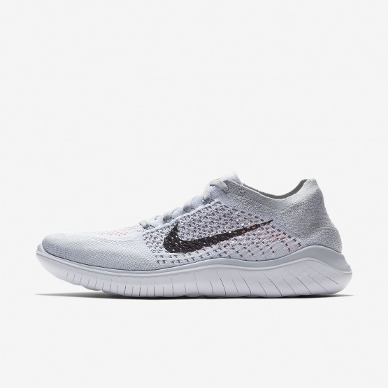 Nike Free RN Flyknit 2018 Running Shoes Mens Pure Platinum/White/Wolf Grey/Black 942838-003