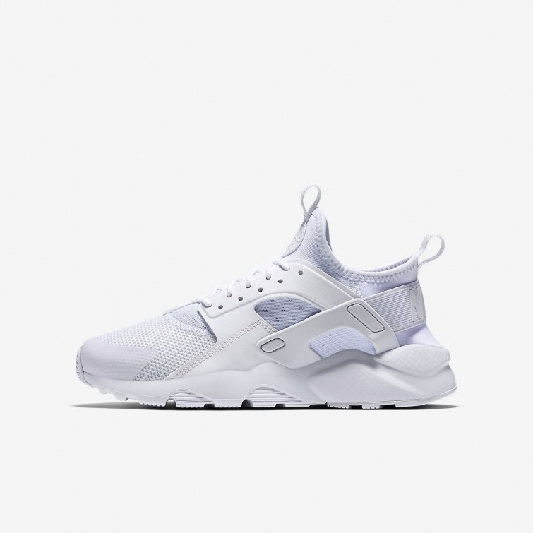 newest 87827 67f64 Nike Air Huarache Ultra Lifestyle Shoes Boys White 847569-100