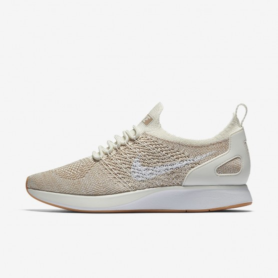 Nike Air Zoom Mariah Flyknit Racer Lifestyle Shoes Womens Sail/Sand/Gum Yellow/White AA0521-100
